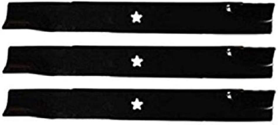 510417901 Mulcher Blades 5 pt star USA 539113312 3 fit Husqvarna # 521981601