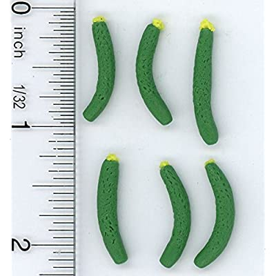 Dollhouse Miniature 1:12 Scale Set of Six Garden Fresh Zucchini: Toys & Games