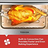 Toshiba AC25CEW-SS Digital Toaster Oven with