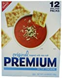 Nabisco Original Premium Saltine Crackers Topped with Sea Salt, 2 Packs of 3 Pounds Each