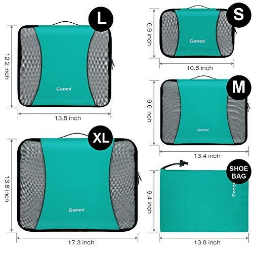 Turquise Deep Blue Packing Rip Bags Gonex Organizers Stop Travel Nylon 4aOUqa