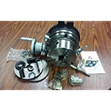 """8"""" PRECISION HORIZONTAL & VERTICAL ROTARY TABLE w. 3jaw chuck & index plates"""