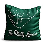 "Personalized Corner Philadelphia Eagles Throw Pillow - Philly Special Super Bowl Champs - 16""x16"" Cover and Insert"