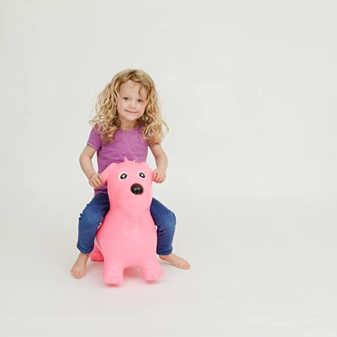 Swings & Bouncers Activity & Entertainment Happy Hopperz Pink Dog Bouncer by Global Baby Globalbaby HHZ03