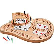 """Mainstreet Classics Wooden """"29"""" Cribbage Board Game Set"""