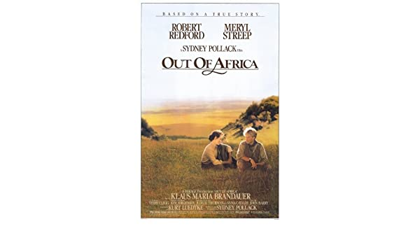 ROBERT REDFORD MERYL STREEP out of africa vintage MOVIE poster CLASSIC 24X36