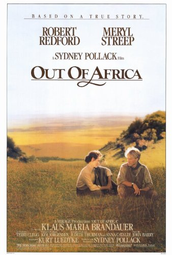 Out of Africa Movie Poster (27 x 40 Inches - 69cm x 102cm) (1985) -(Meryl Streep)(Robert Redford)(Klaus Maria Brandauer)(Michael Kitchen)(Malick Bowens)(Michael Gough)