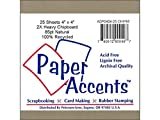 Accent Design Paper Accents ADP0404-25.CHIP85 2X Heavy 85 Point 4'' x 4'' Natural Chipboard Card Stock