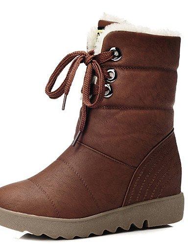 5 Mujer 7 Casual 5 Zapatos Brown Brown A Botas Cn40 Moda Eu39 5 Uk6 Fiesta Eu37 Uk4 Tacón La Y Uk6 Nieve us6 marrón De us8 Vestido 5 Cn37 5 Xzz Sintético Plano Noche qHxfEBB