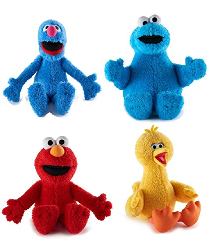 Kohl's Cares Sesame Street Plush set of 4 Set Include Grove, Cookie Monster, Big Bird and Elmo