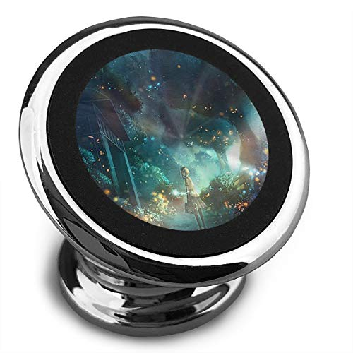 Magnetic Car Phone Holder Fireflies and Girls Car Phone Mount with A Super Strong Magnet Mobile Phone Holder for All iPhone Samsung Galaxy and Most Smartphones