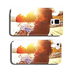 Mom and son having fun by the lake cell phone cover case Samsung S6
