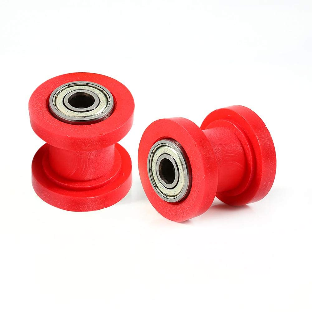 10mm Pulley Tensioner Chain Roller Green Keenso Chain Roller Slider Tensioner Wheel Guide for Motorcycle Pit Dirt Mini Bike Atv