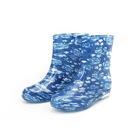 Dear Time Women Mid Calf Rain Boots US 9
