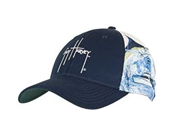 fcebf40a5bbd8 Image Unavailable. Image not available for. Colour  Guy Harvey Marlin Boat  Sport Mesh Hat ...