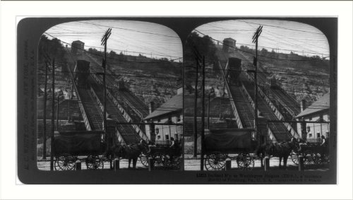 Historic Print (L): Inclined railway to Washington Heights, Pittsburgh, - Pa Pittsburgh Washington To