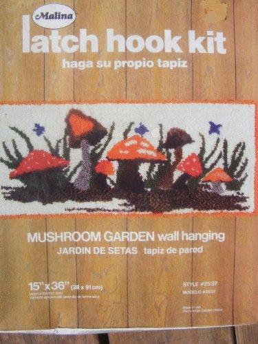 Mushroom Garden Wall Hanging Latch Hook Kit - 15