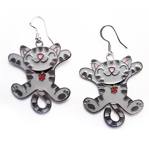 The Big Bang Theory Jumping Soft Kitty Earrings