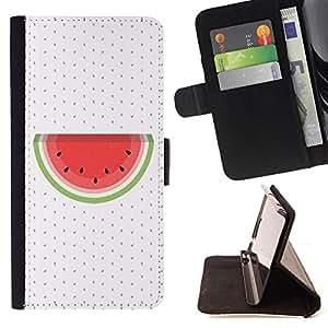 Dragon Case- Caja de la carpeta del caso en folio de cuero del tirš®n de la cubierta protectora Shell FOR Sony Xperia Z3 D6653- Watermelon Fruit Cute