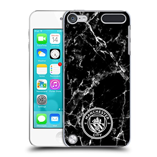 Blk Mp3 Player Accessories - Official Manchester City Man City FC Black White Mono 2017/18 Marble Badge Hard Back Case for iPod Touch 5th Gen / 6th Gen