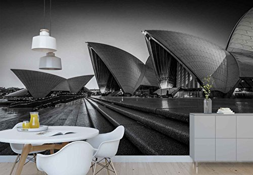 Photo wallpaper wall mural - Sydney Opera House Stairs Arches - Theme Travel & Maps - XL - 12ft x 8ft 4in (WxH) - 4 Pieces - Printed on 130gsm Non-Woven Paper - 1X-1183429V8 by Fotowalls Photo Wallpaper Murals