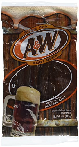 A&W Rootbeer Licorice Style Candy Twists Made with Real A&W Rootbeer by Kenny