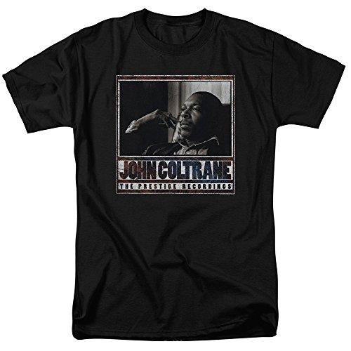 Trevco Men's John Coltrane Short Sleeve T-Shirt, Black, Large ()