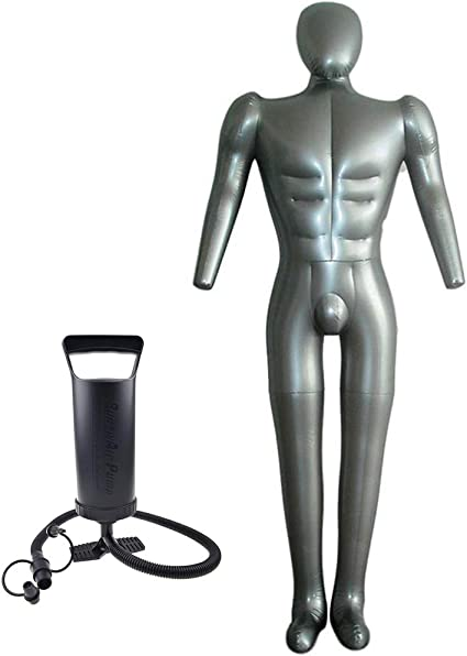 Inflatable Male Full Body Mannequin Dress Form Dummy with Inflatable Pump Utility to Use
