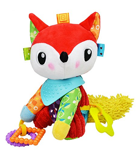 [BabyPrice Baby Cute Fox Doll with Teether Educational Toys Developmental Sensory Clip On Toy] (Doll On A Music Box Costume)