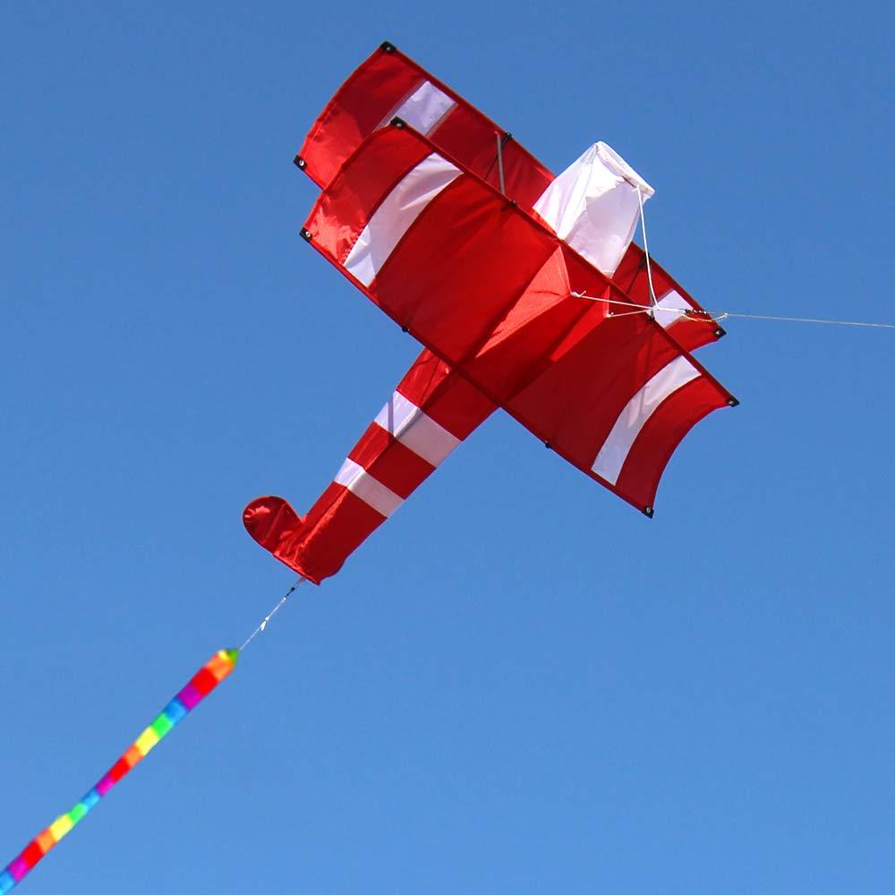 LONG-B 3D Cometa para Ni/ños Y Adultos Muy F/ácil De Volar con Mango De Cometa Y Cuerda F/ácil De Volar Ideal para Principiantes