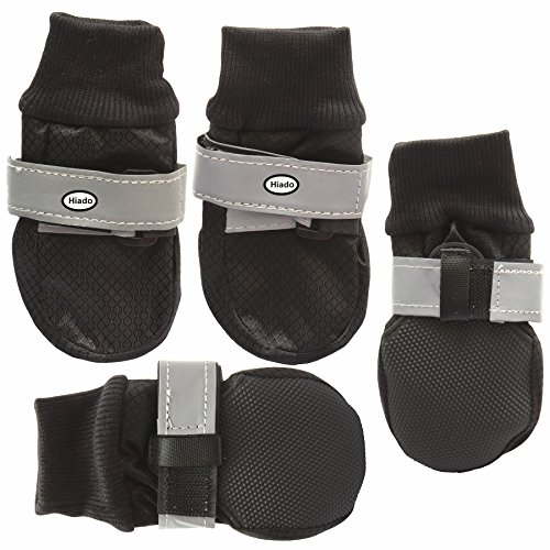 Hiado Dog Shoes Boots Paw Protectors Reflective With Antislip