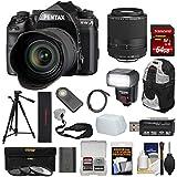 Pentax K-1 Mark II Full Frame Wi-Fi Digital SLR Camera & FA 28-105mm Lens Lens + 64GB Card + Battery + Flash + Backpack + Tripod + Kit