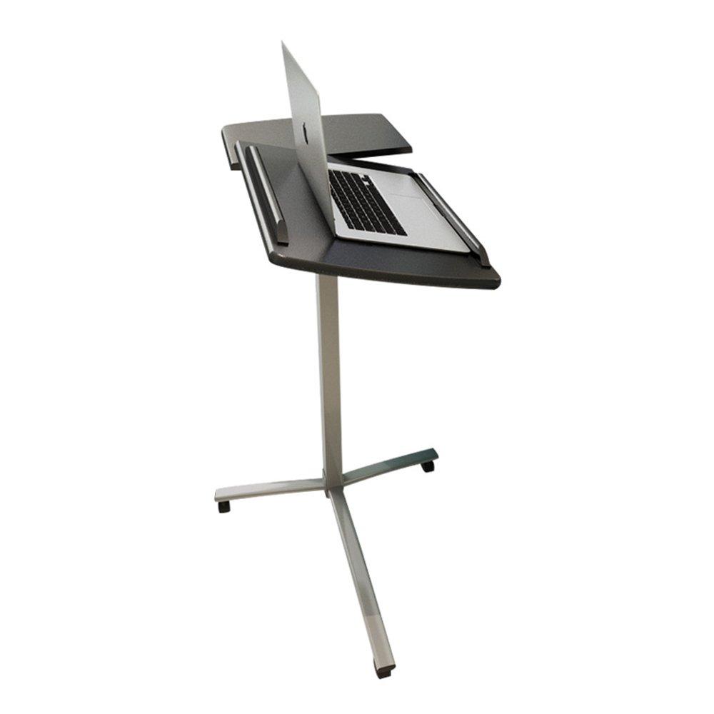 FEIFEI ポータブルノートパソコンスタンドデスクカート、マウスボード調節可能なテーブルソファベッドサイドテーブルオーバーベッドテーブル調節可能な高さ (色 : Black) B07F8DDZ4H Black Black