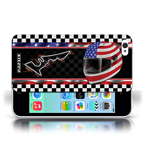 Etui / Coque pour Apple iPhone 5C / USA/Austin conception / Collection de F1 Piste Drapeau