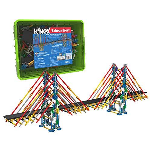 K'NEX Education Real Bridge Building Set, Educational Toys for Kids, 2,304 Piece STEM Learning Kit, Engineering for Kids…