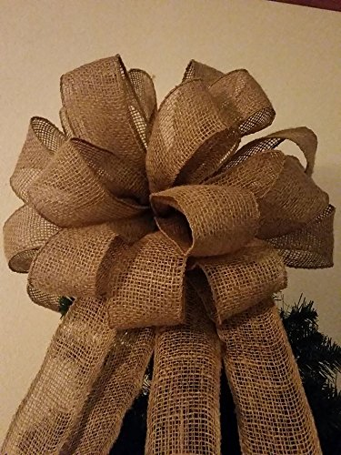 Attractive Amazon.com: 15 Inch 7.5 Ft Streamers Burlap Christmas Tree Topper  UC94