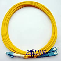 EB-LINK LC to SC Fiber Optic Patch Cord Jumper Cable Duplex Single-mode 9/125 LC-SC,25 Meters (82 feets)