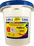 Robelle 1440M 5-in-1 Multi-Purpose 3'' Chlorine Tabs, 40 lb