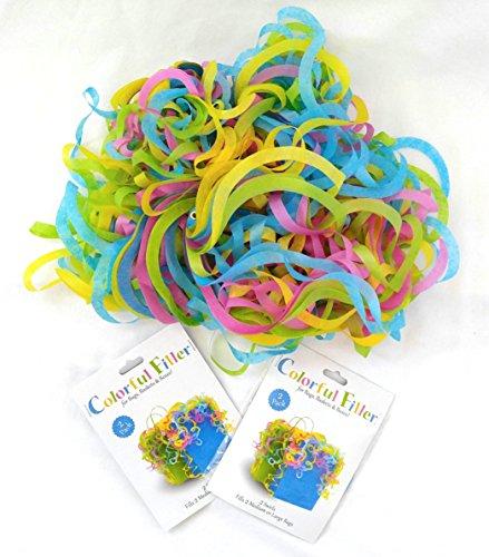 Set of 4 Medium Colorful Filler Tissue Wrap Swirls