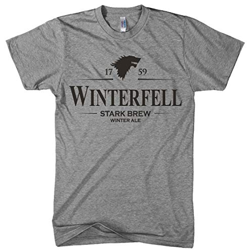 Winterfell Winter Ale T-Shirt Funny Television Craft Beer Tee (Grays) - L ()