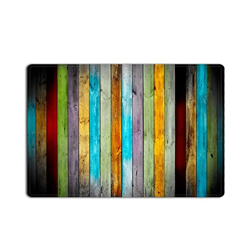 Rectangle Welcome Mat - Libaoge Goodbath Funny Bath Mat Rugs - Rustic Vintage Wood Non-Slip Rectangle Floor Entryways Outdoor Indoor Front Entrance Doormat