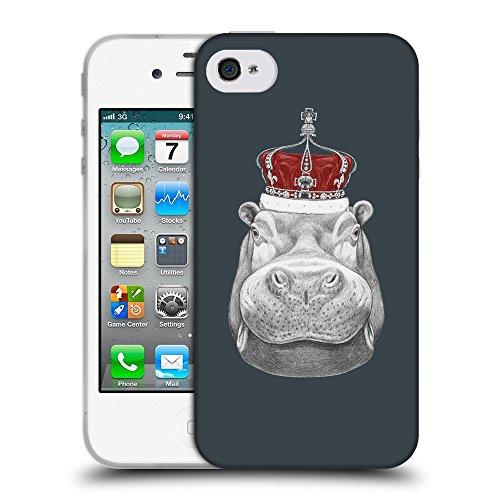 GoGoMobile Coque de Protection TPU Silicone Case pour // Q05260606 hippopotame Arsenic // Apple iPhone 4 4S 4G