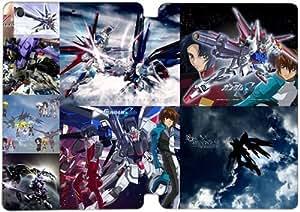 [PU del tirón del cuero] mini iPad Funda,Gundam [Theme] iPad mini 1 Mini 2 Mini 3 funda [Con Pantalla Protecto] KA4767