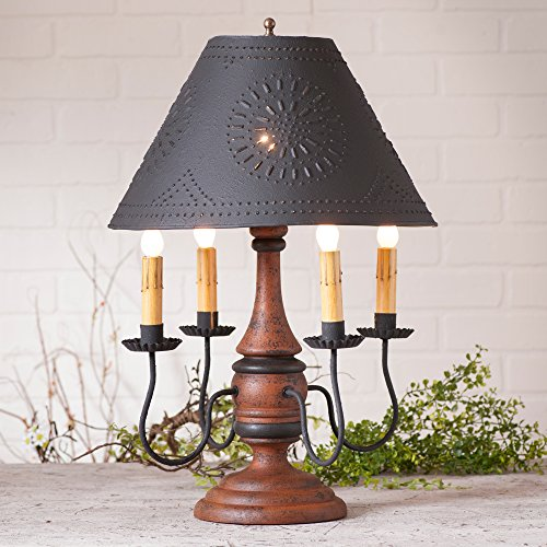Jamestown Lamp in Hartford Pumpkin with Shade -