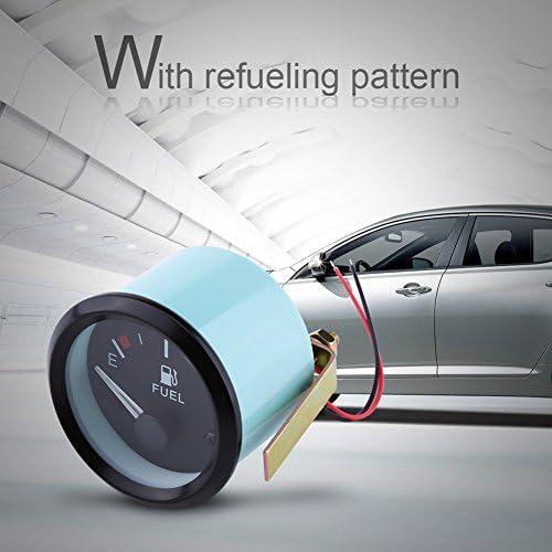 Kraftstoffanzeige 52 mm Universal-Auto-Kraftstoffstandsanzeige LED Digital E-1//2-F-Entfernungsmesser mit Kraftstoffsensor