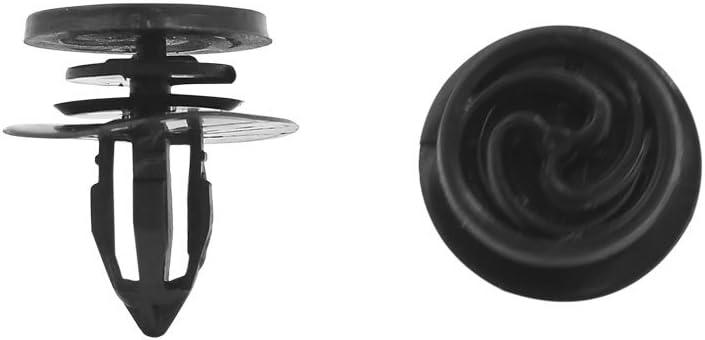 Sourcingmap 20 Stück Schwarz Kunststoff Spritzschutz Tür Trim Matte Zierleisten Clip 11 Mm Für Auto Auto