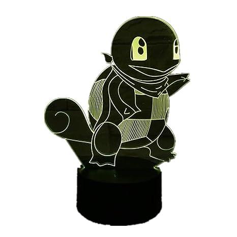 KangYD Luz 3D /Pokemon 3D Led Night Lamp Decoración de regalo de ...