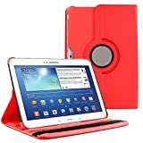 "360 Degree Rotating Case Cover w/ Stand for Samsung Galaxy Tab 4 10.1"" (Red)"