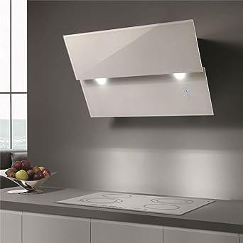 Cappa cucina Airone da parete Marzo Vetro Bianco 80 cm: Amazon.it ...