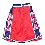 Mperial USA Men's Basketball Shorts (XXXX-Large Tall, Red/Navy/White)